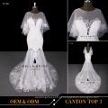Novo designer Jewel decote Sweetheart decote vestido de noiva sexy