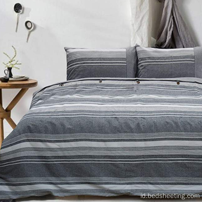 Cotton Percale yarn dicelup Duvet Covers