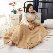 Оптовая Изготовленный На Заказ Трикотажные Одеяло Новый
