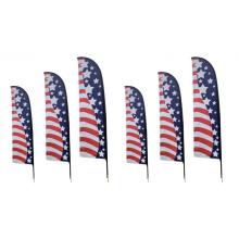 Creador de banderas de publicidad de playa de poliéster de diseño personalizado