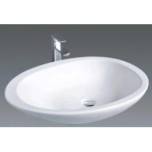 Salle de bain en forme ronde Comptoir sanitaire au-dessus du lavabo (1005)