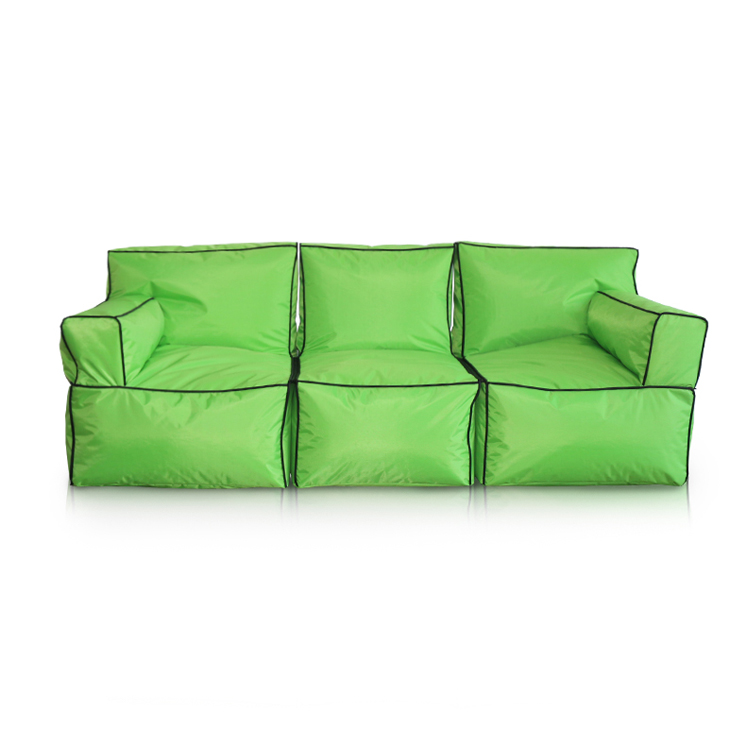Green Portable Single Lazy Sofa Outdoor Bean Bag