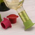 Custom silicone rubber stopper for wine glass bottle