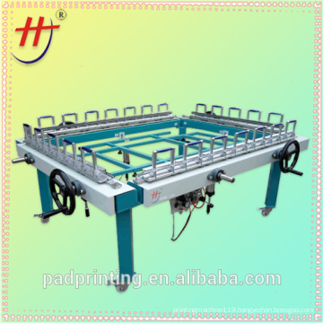 T Pneumatic screen printing stretcher machine with double chuck
