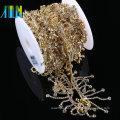 Clear Crystal Glass Tassels Chain Costume Trim Sewing Applique Chain Rhinestone For Wedding Bridal Dress Accessories