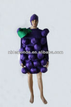 2015 hot sale novel party grape costumes for adult