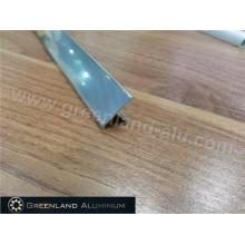 Perfiles de aluminio T Forma Transición Tile Trim con color plata