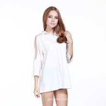 Wholesale Fashion Women Long Sleeve Insert Lace Shirt