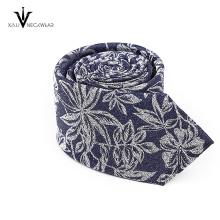 Cravate florale de Paisley de cravate tissée promotionnelle de polyester d'hommes de Jacquard d'OEM de service
