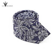 OEM Service Promotional Jacquard Woven Mens Polyester Tie Floral Paisley Tie