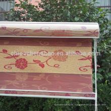 2016 populares de lujo jacquard cebra tela persiana enrollable
