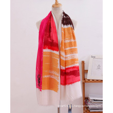 Stripe Printed Cotton Women Fashion Long Scarf (YKY1120)