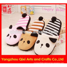 2017 new designs plush animal slippers cute panda indoor slipper shoes