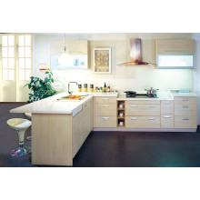 Gabinete de cozinha de lã de alto brilho popular