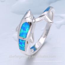 bijoux en plaqué or en gros argent feu opale anneau en gros prix