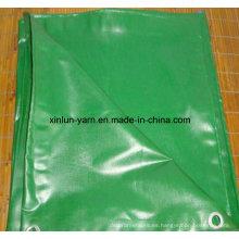 Cubiertas de lona en tela de lona 100% poliéster para toldo