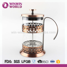 Copper color stainless steel french press coffee set arabic style 1 litre