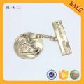 MC673 Kleidung benutzerdefinierte nähen Kleidungsstück billig Jeans Metall Etikett Tag