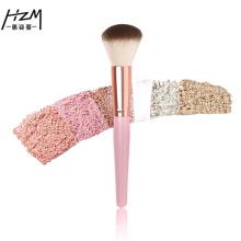 Kit de pincel de blush de maquiagem rosa de 2 peças