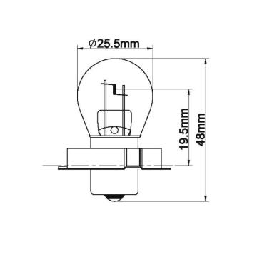 Motorcycle headlight bulb waterproof