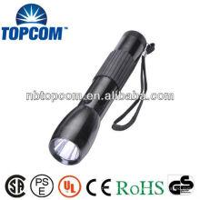 Lampe de poche à LED haute puissance avec poignée en caoutchouc
