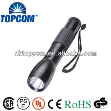 High Power LED Flashlight with Rubber Grip