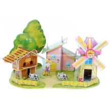 Rompecabezas de la casa de molino de viento 3D