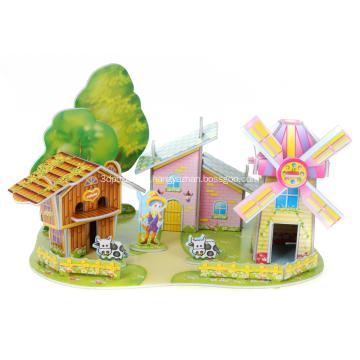 3D Mühle-Haus-Puzzle