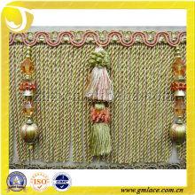 Mayorista y moda de seda sofá franja de ajuste para la decoración de sofá