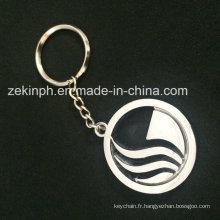 Porte-clé promotionnel personnalisé en métal
