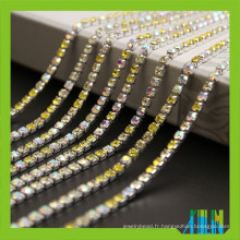 Usine prix nouveau strass cristal coupe chaîne super fermée avec strass de haute qualité pour le vêtement