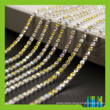 Factory price new strass crystal cup chain super closed with high quality rhinestones for garment