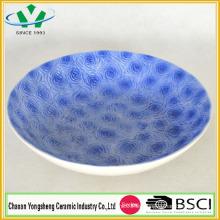 Buena calidad de venta de platos de cerámica para la decoración casera