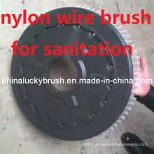Cepillo redondo de nylon para la máquina de saneamiento ambiental (YY-341)
