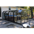 Cubierta automática para piscina de cuatro estaciones para techo exterior