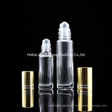 5ml 10ml Clear Amber Roll sur les bouteilles avec un rouleau pour l'utilisation du parfum