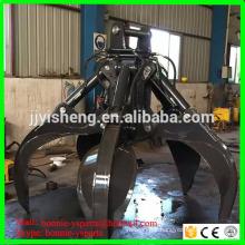 Professional supply volvo hyundai hydraulic and mechanical excavator grab bucket