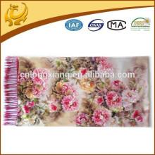 China-Art gesponnene zwei Schichten Soem-kundenspezifischer Entwurfs-Klassiker 100% Silk Pashmina Großverkauf