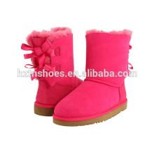 Симпатичные девушки сапоги с Bowknots теплая зимняя обувь для детей