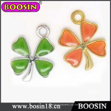 Nueva moda de cuatro hojas trébol joyería flor pulsera encanto # 13857