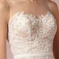 BHD06 Romantic A-Line Illusion Neckline Bohemian Tulle Bride Wedding Dresses Vestidos de Novia
