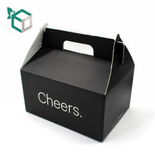 High quality cheap black E flute corrugated paper food grade material FSC cupcake packaging box