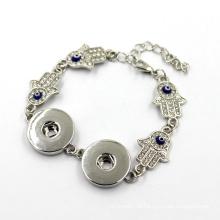 Bracelete de prata do botão da mão do Hamas