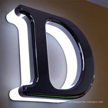 Publicidad de letras LED retroiluminadas para señalización frontal de la tienda