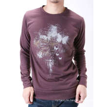 Darkred Screen Printing Fashion Cutton Custom Men Long Sleeve T-Shirt