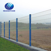 Usina fotovoltaica soldada cerca pvc revestido de cerca de arame de exportação para o Japão galvanizado cerca