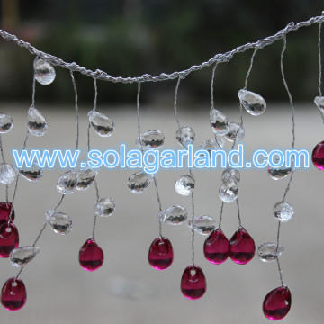 Crystal Waterdrop Teardrop Beaded tak Garland