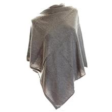 PK18A07HX 100% Cashmere Poncho Sweater Mulheres