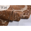 Shallow Brown Chenille Jacquard Sofa Fabric by 400GSM
