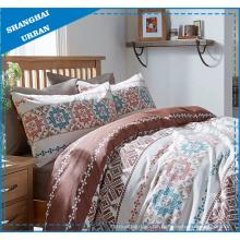 Brown Tribe Totems gedruckt Polyester Bettbezug Set
